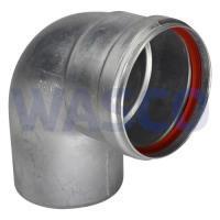1060716Winterwarm rookgasbocht 90° 80mm dikwandig aluminium