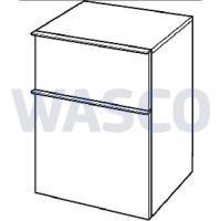 21430028Sphinx iCon zijkast 45 cm 2 laden wit hoogglans greep chroom