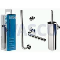 33327827 Clou InBe accessoirepack bestaande uit: closetrolhouder, reserverolhouder, closetborstelgarnituur en haak chroom