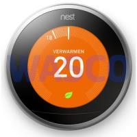 3722098 Nest Learning Thermostaat V3 3e generatie slimme thermostaat RVS