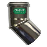 4222884 Panflex INOX rookgasafvoerbocht star 45º Ø80mm hoogglans RVS