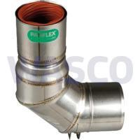 4222898Panflex INOX Gastec QA adapter Ø50-80 mm PP-s met schachtbocht 90° en oog