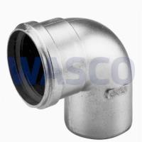 4300280Burgerhout Alu-fix rookgasbocht 90° Ø80 mm mof x spie mugrofix aluminium