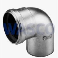 4300570Burgerhout Alu-fix rookgasbocht 90° 100 mm mof x spie mugrofix aluminium