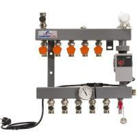 4960085Comfort Line 5 groeps staal vloerverwarmingsverdeler + Wilo Yonos Para RS25/6 (A-label pomp)