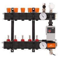 4960844Comfort Line 10-groeps kunststof LTV vloerverwarmingsverdeler met flowmeters