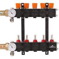 4960861Comfort Line 12-groeps kunststof industrie vloerverwarmingsverdeler met flowmeters