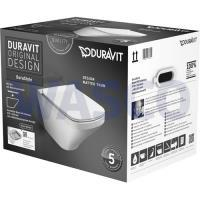 52301946Duravit Durastyle Rimless wandcloset pack diepspoel met afneembare softclose closetzitting wit