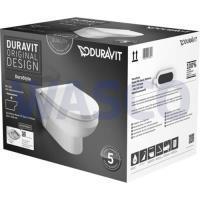 52302035Duravit Durastyle Rimless wandcloset pack diepspoel met afneembare softclose closetzitting wit