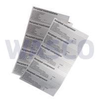 99RO6002Universeel kenplaat compressor stickervel (vel met 4 alu stickers)