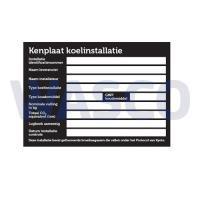 99RO6004Universeel Kenplaat installatie stickervel incl. GWP/CO2 (vel met 4 alu stickers)