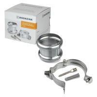 A12606857Rheinzink bevestigingspakket HWA buis 80 mm (scharnierpijpbeugel + dubbele overschuifwrong + schroefstift + plug)