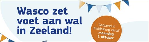 Wasco zet voet aan wal in Zeeland